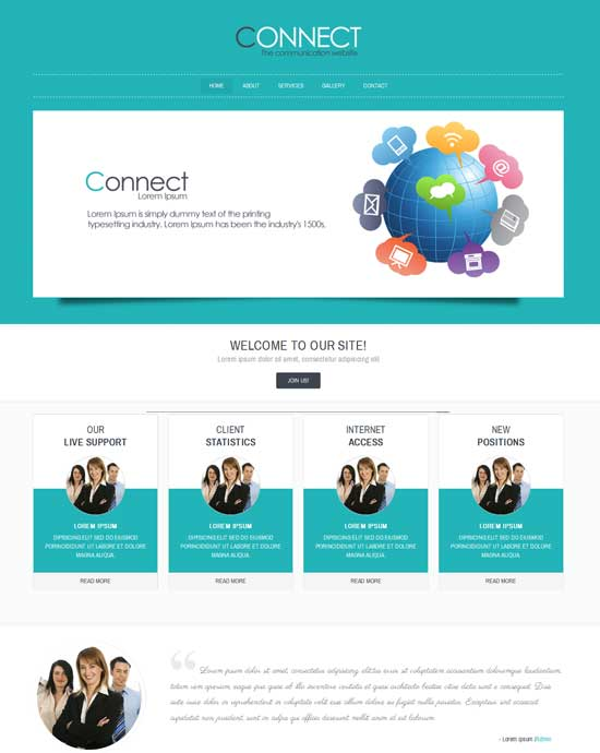 Connect-Free-Corporate-Business-website-Template