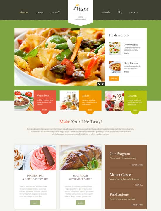 Cooking-Responsive-WordPress-Theme
