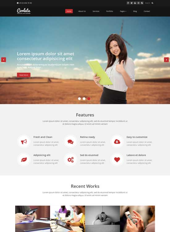 corlate bootstrap business template