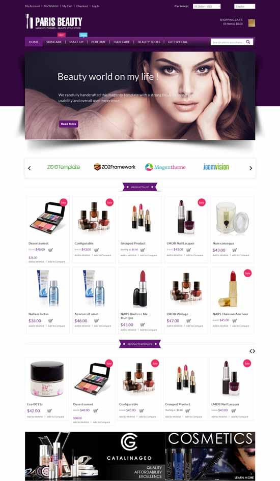 Cosmetic-Responsive-Magento-Theme