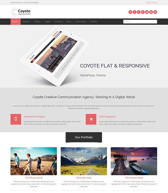 Coyote-flat-clean-design-template