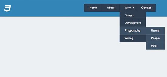 Create Simple CSS Dropdown Menu