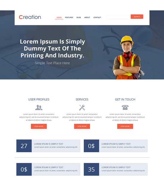 Creation-Free-Flat-Industrial-Bootstrap-Responsive-Website-template