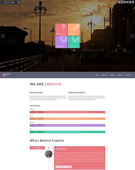 Creatrix-Flat-Responsive-Template