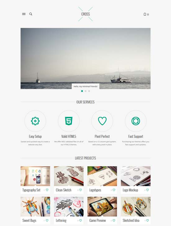 Cross-Minimal-Responsive-WordPress-Theme