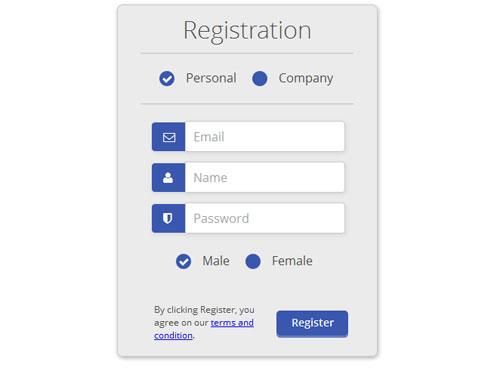 Css3-html5-Registration-Form