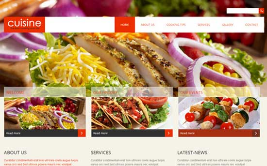 Cuisine - Free HTML5 Restaurant Responsive Template