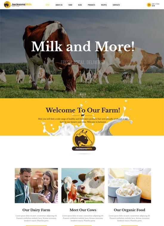 Dairy milk Farm wordpress Theme