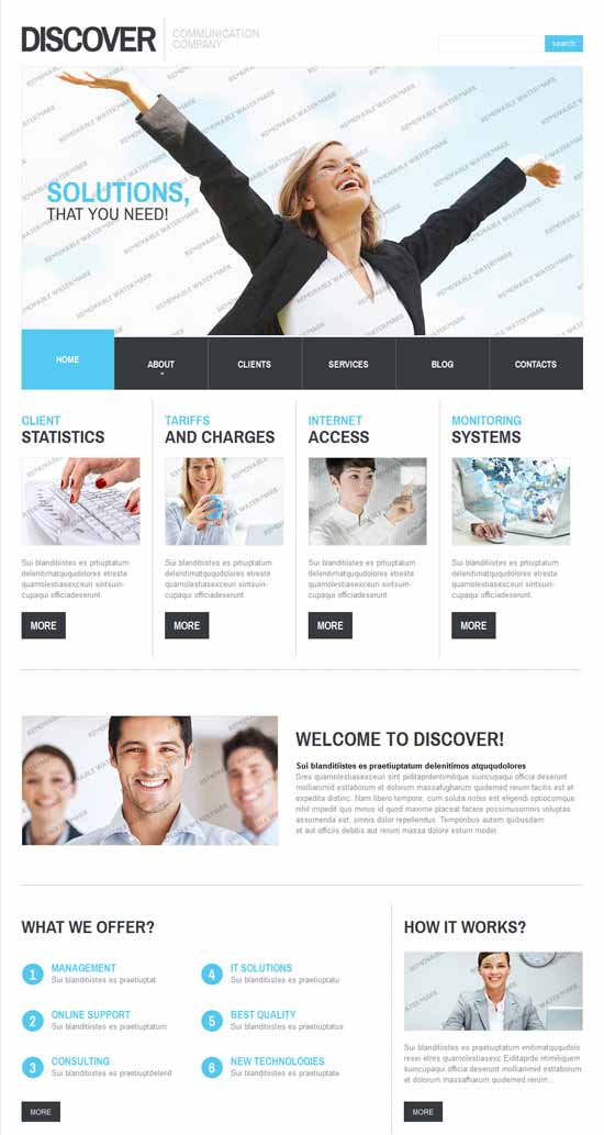 Discover-IT-Company-Responsive-Website-Template