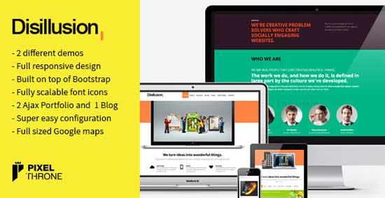 Disillusion portfolio WordPress theme