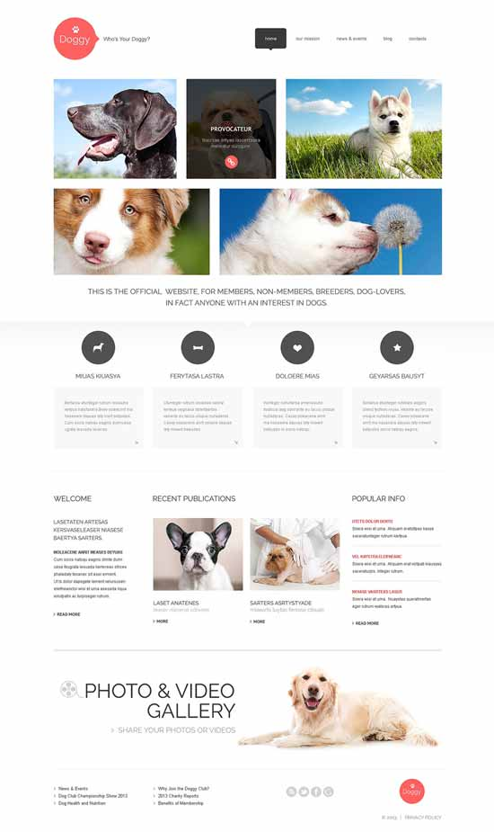 Dog-WordPress-Theme