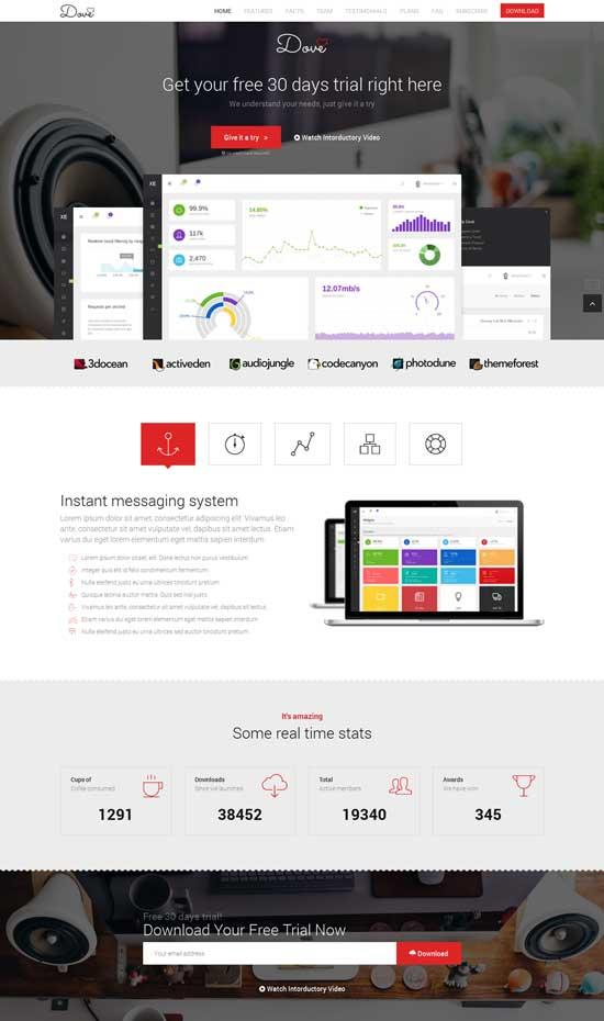 Dove-Modern-Startup-Landing-Page