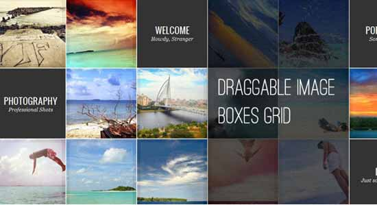 Draggable Image Boxes Grid