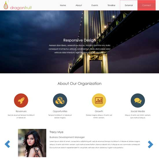 dragonfruit free html5 website template