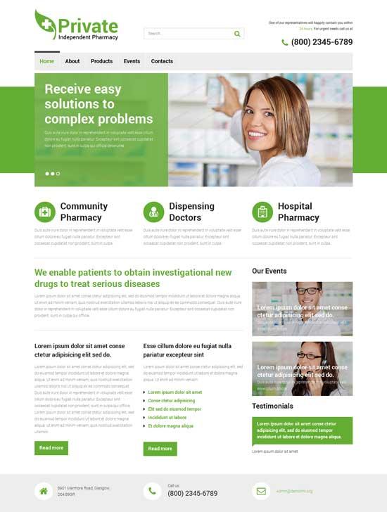 Drug-Store-Responsive-Website-Template