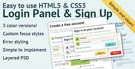 Easy-to-use-HTML5-CSS3-Sign-Up