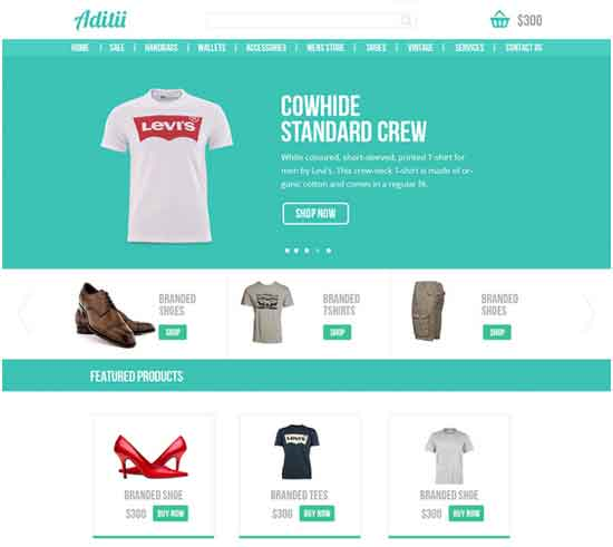 Ecommerce Website Template PSD for Free