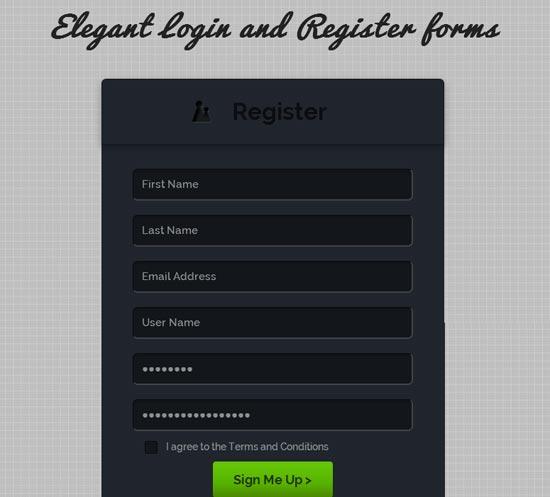 Elegant-Register-Forms-Template