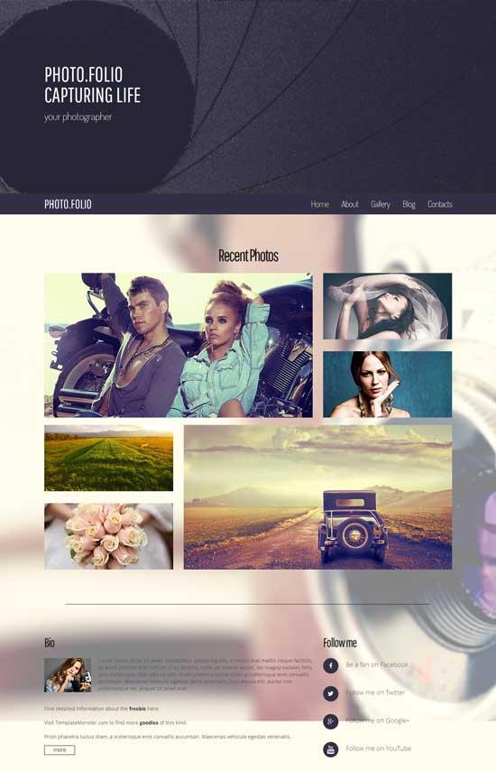 Photo Site HTML5 Theme
