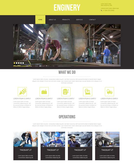 Enginery-Free-Industrial-Website-Template