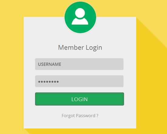 Entrar-Shadow-Flat-Login-Form-Template