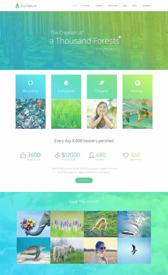 Environment-Ecology-WordPress-Theme