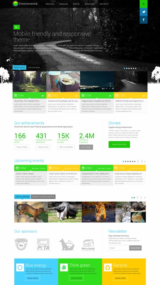 Environmental-Responsive-WordPress-Theme
