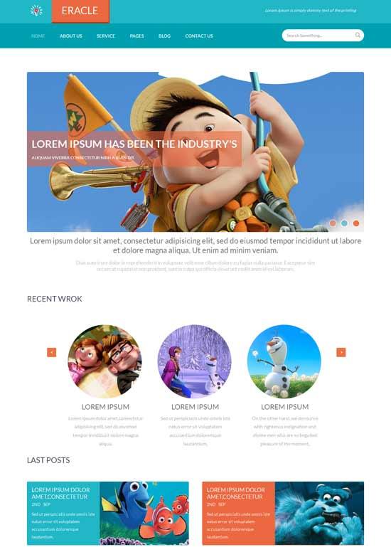 Eracle-Free-Flat-Design-Responsive-web-template
