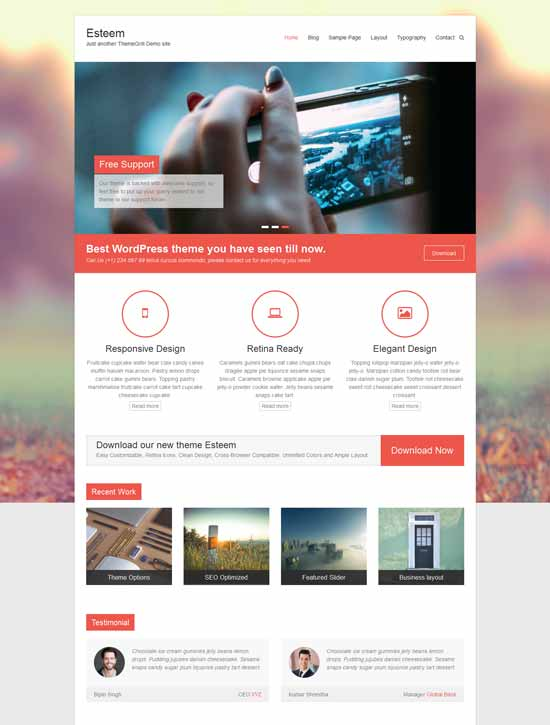 esteem wordpress portfolio theme