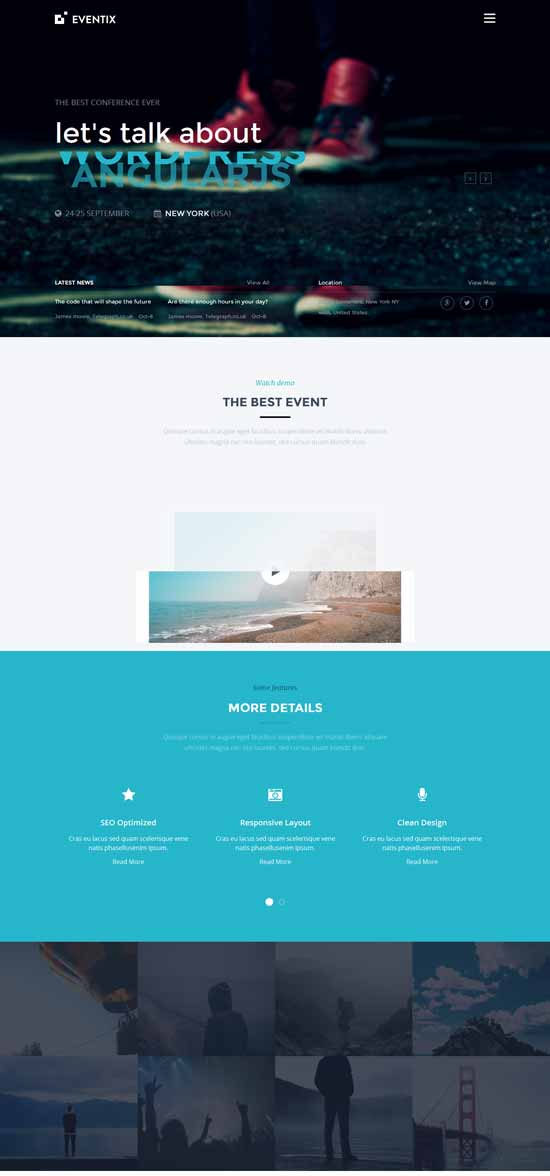 Eventix-Event-Landing-WordPress-Theme
