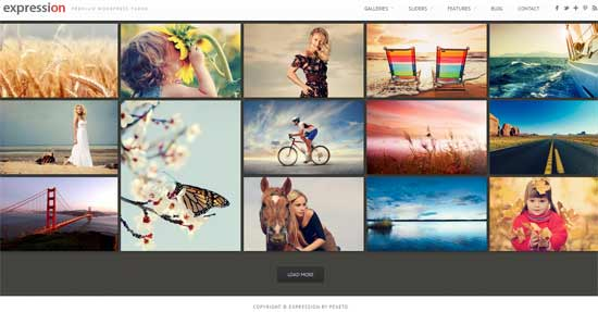 Expression Photography Responsive WordPress
