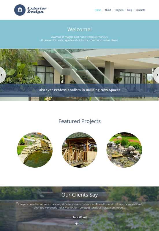 Exterior-Design-Responsive-WordPress-Theme