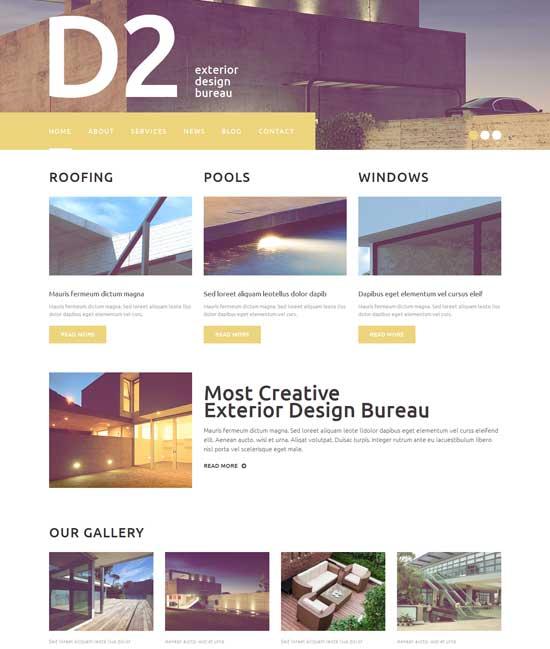 Exterior-Design-WordPress-Theme