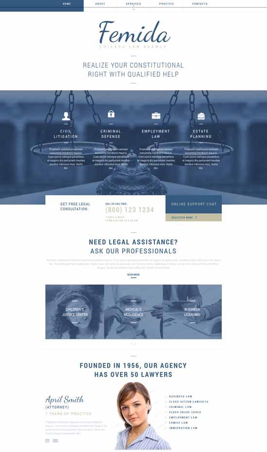 Femida-Law-Firm-Responsive-Website-Template