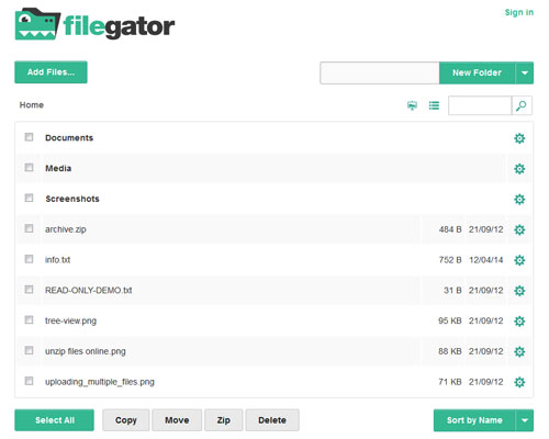 FileGator-php-upload