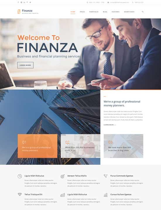 Finanza-financial-wordPress-theme