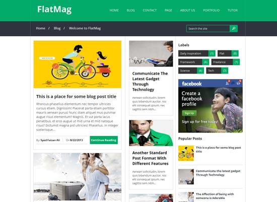 Flat Mag responsive blogger theme