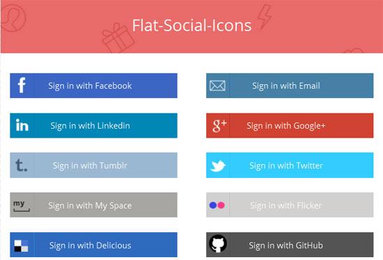 Flat-Social-Buttons