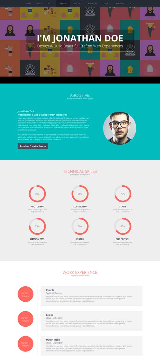 Flatoo-Resume-Personal-WordPress-Theme