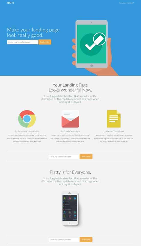 Flatty-App-Landing-Page-Template