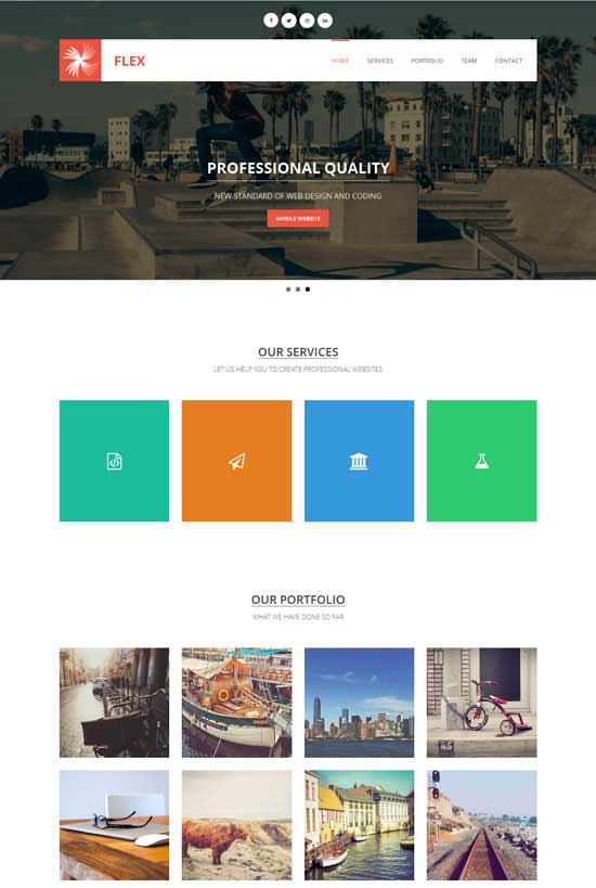 Flex-Free-Flat-design-website-template