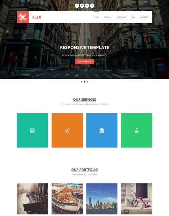 flex free responsive html5 template
