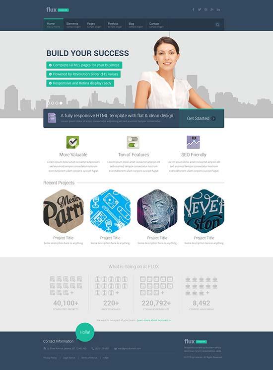 Flux-Flat-Corporate-HTML-Template