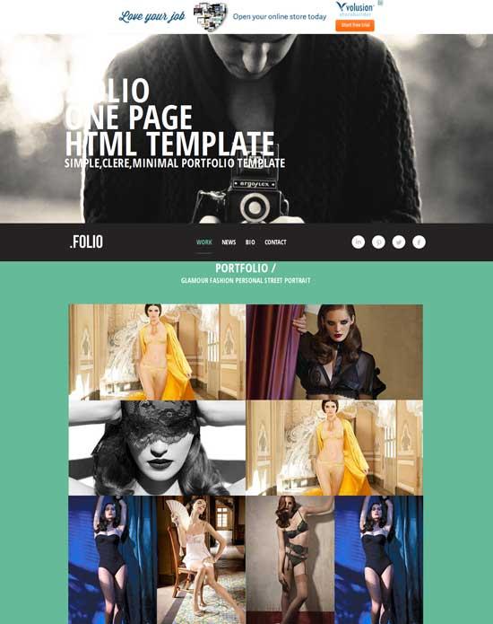 Folio-Free-Flat-Responsive-Photographer-portfolio-website-template