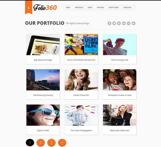 Folio360 responsive blogger template