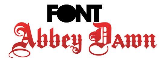 Font Abbey Dawn free fonts design