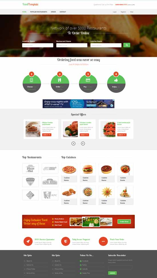 Food-Template-Free-Restaurant-Bootstrap-template