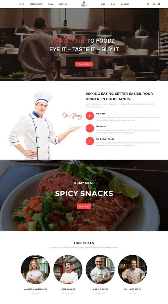 Foodz Restaurant Joomla Template
