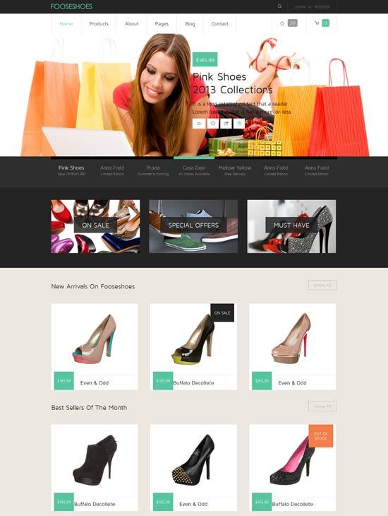 FooseShoes-Free-Flat-ECommerce-Responsive-Web-Template