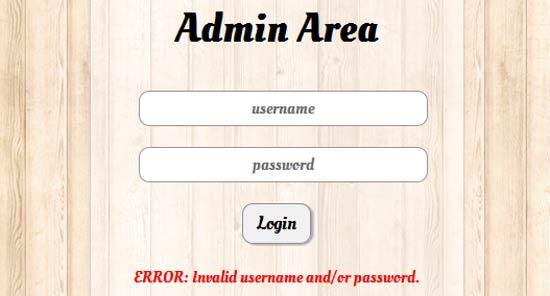 Form Login dengan PHP, Jquery